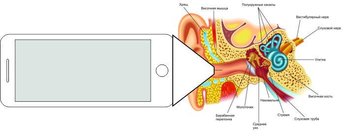 Телефон для диагностики отитов